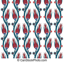 seamless pattern turkish tile