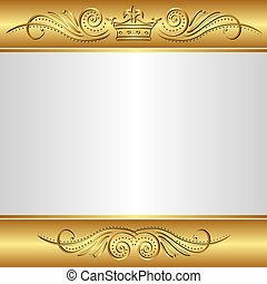 background - gold and silver background with crown