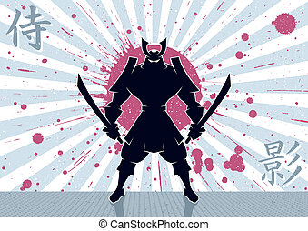 Samurai Background - Samurai warrior background. No...