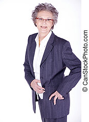 old woman in business