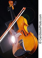 fiddle in the studio