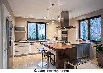 Travertine house- Pleasant kitchen - Travertine house-...