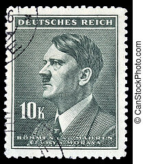 Adolph Hitler stamp 10k - The Bohemia and Moravia definitive...