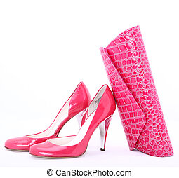 shoes from italy with clutch bag