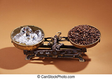 diamonds and coffee beans