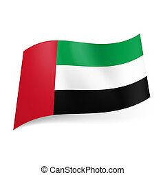 State flag of United Arab Emirates - National flag of United...