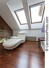 Room on the attic - Modern room on the attic with...