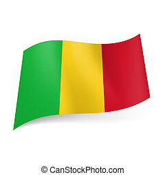 State flag of Mali. - National flag of Mali: green, yellow...