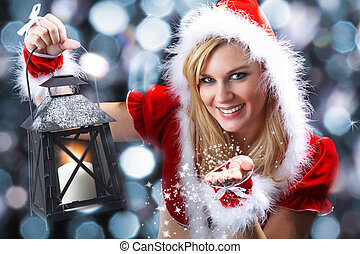 Santa woman with candle