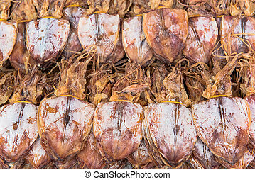 Sun dried squid