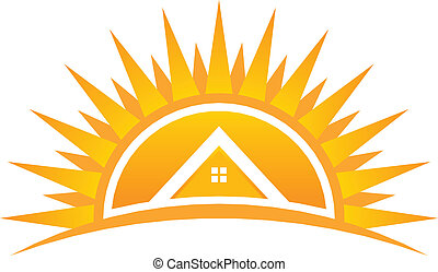 House on Sunset Vector Logo