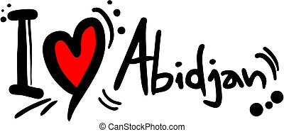 Love Abidjan - Creative design of love Abidjan