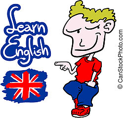 Learn English - Creative design of learn English