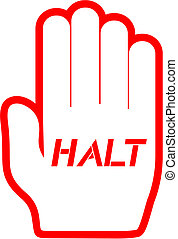 Hand halt - Creative design of hand halt