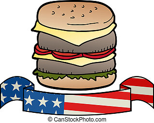American burger - Creative design of American burger