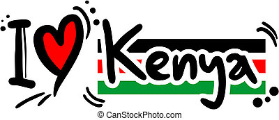 Kenya love - Creative design of Kenya love