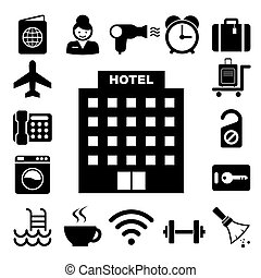 Hotel and travel icon set,Illustration eps10
