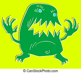 Green monster - Creative design of green monster