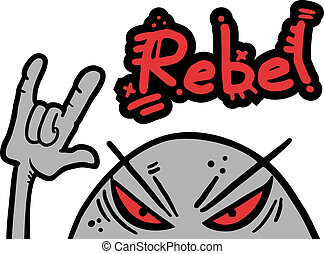Rebel bug - Creative design of rebel bug