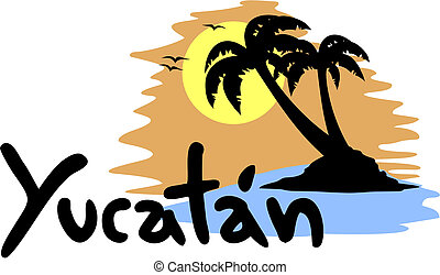 Yucatan beach - Creative design of Yucatan beach