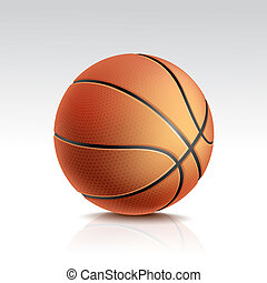 Vector Isolated Basketball Ball on White Background