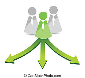 teamwork options illustration design