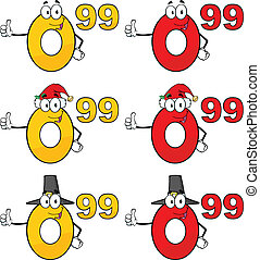 Price Tag Numbers Collection Set 2