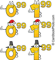 Price Tag Numbers Collection Set 5