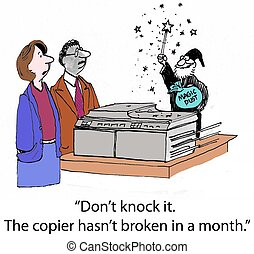 """The Copier Works Like Magic from Merlin - """"Don't knock it...."""