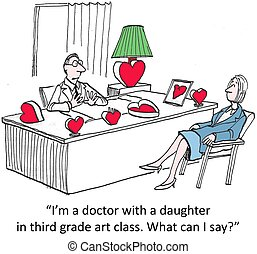 "Art class - ""I'm a doctor with a daughter in third grade art..."