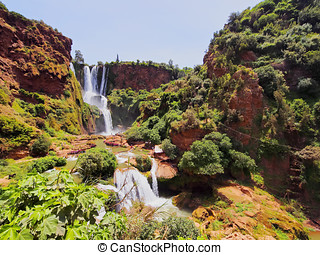 Ouzoud Waterfalls in Morocco - Ouzoud Waterfalls located in...