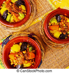 Moroccan Couscous - Couscous - traditional moroccan food in...