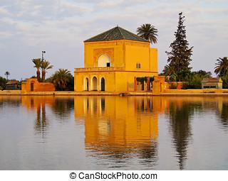 Menara gardens in Marrakech, Morocco - Saadian garden...
