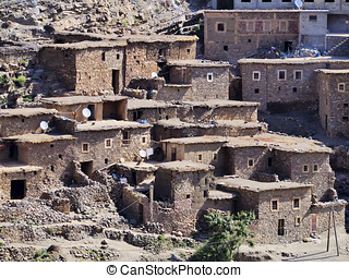 Village in Atlas Mountains, Morocco - Village in Atlas...
