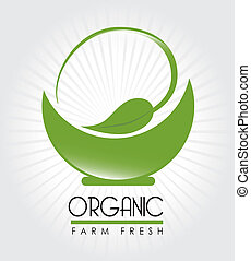 organic label - organic label over white background vector...