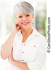 beautiful middle aged woman - portrait of beautiful middle...