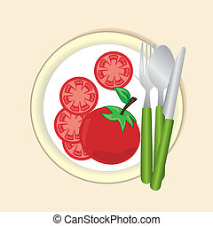 healthy food label over pink background vector illustration
