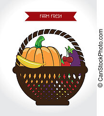 farm fresh label over white background vector illustration