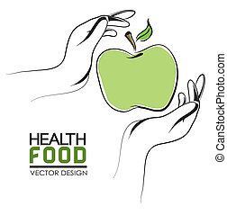 health food label - health food label over white background...