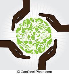 natural label over white background vector illustration