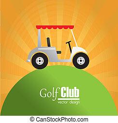 golf design over orange background vector illustration