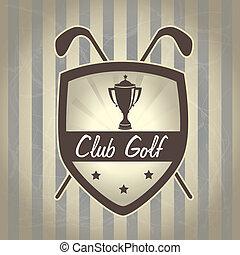 golf design over lineal background vector illustration