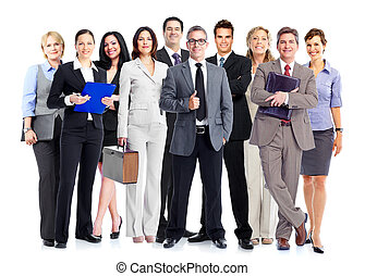 Business people group. - Group of employee people. Business...