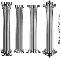 Column Covered With Bar Code Zebra