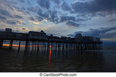 Wharf over Water at Sunrise