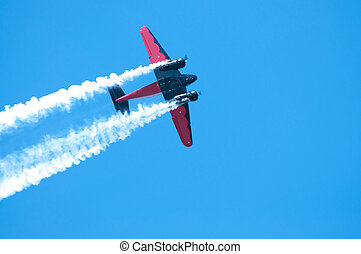 Plane in action - Shot this at an air show in Waterloo, Iowa...