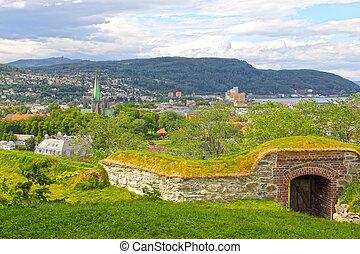Panorama of Trondheim - Panoramic view on city of Trondheim...