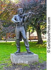 Arve Tellefsen monument in city of Trondheim, Norway