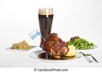 knuckle of pork - bavarian knuckle of pork with potato...