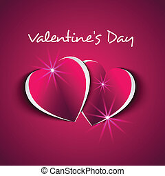 Valentine`s Day card with modern hearts effect